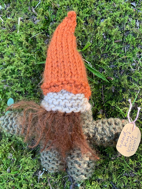 Hand-knit Gnome