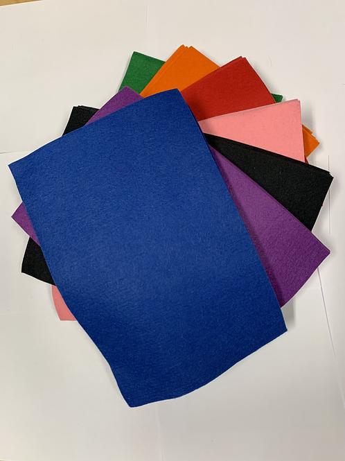 Wool/Rayon Felt BLUE