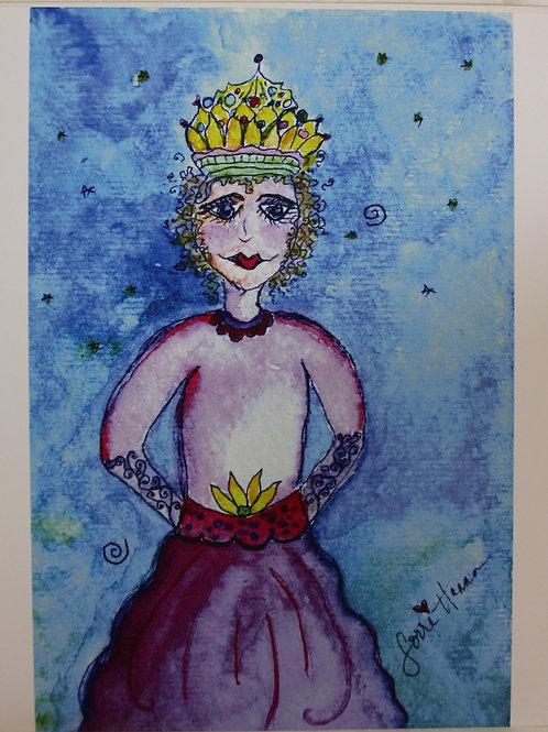 Watercolor Queen A