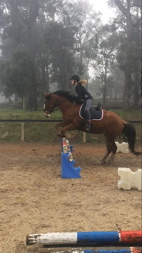 Jumping lesson at Unicorn Valley