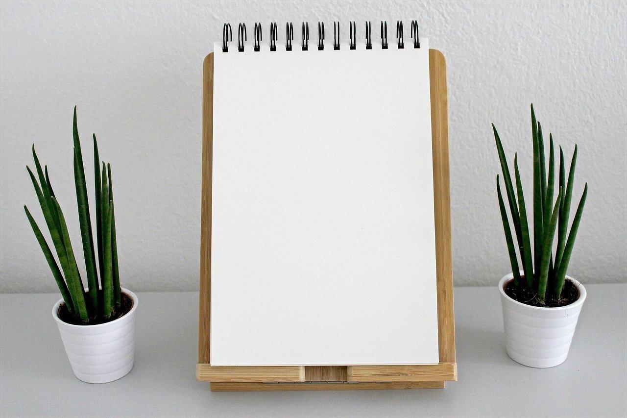 Bloc note | calepin | espace intérieur | décoration zen | clarté