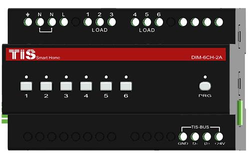 TIS-DIM-6CH-2A димерный модуль 6 каналов 2А