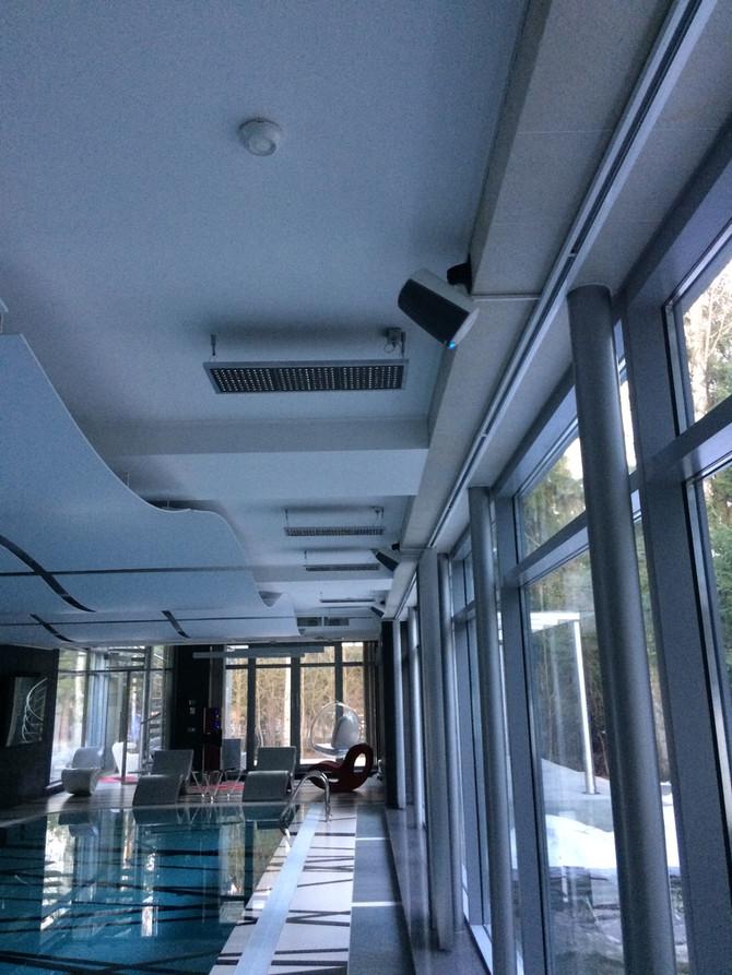 Беспроводное озвучивание бассейна в частном доме
