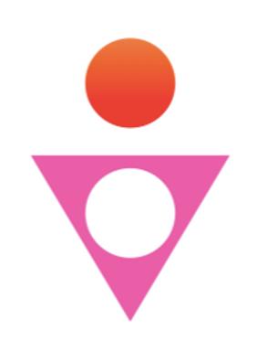 logo l'avis du corps jego rouge et rose.