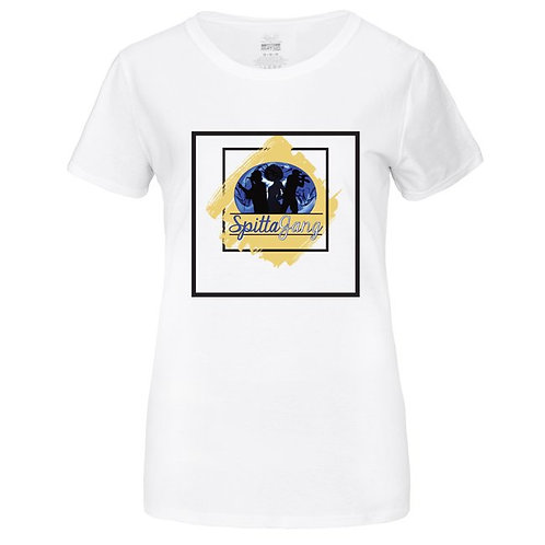 Female Spittagang Graphic Tee (White)