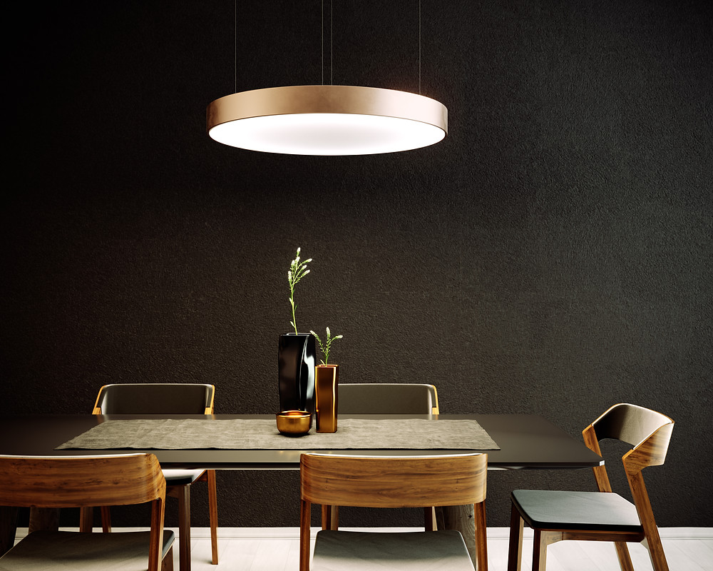 osvetlenie jedálne dizajnový LED kruh svetelné stropy