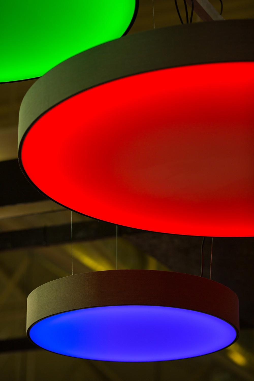 kruhové svietidlo LED farby RGB svetelné stropy