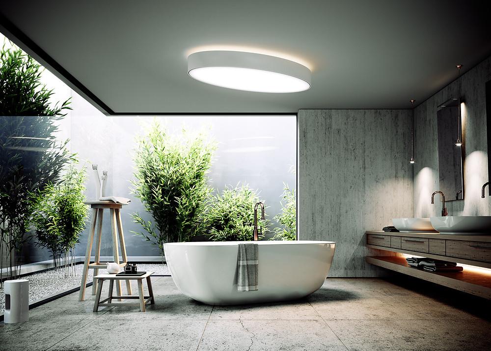 osvetlenie kúpeľne dizajnové svietidlo svetelné stropy