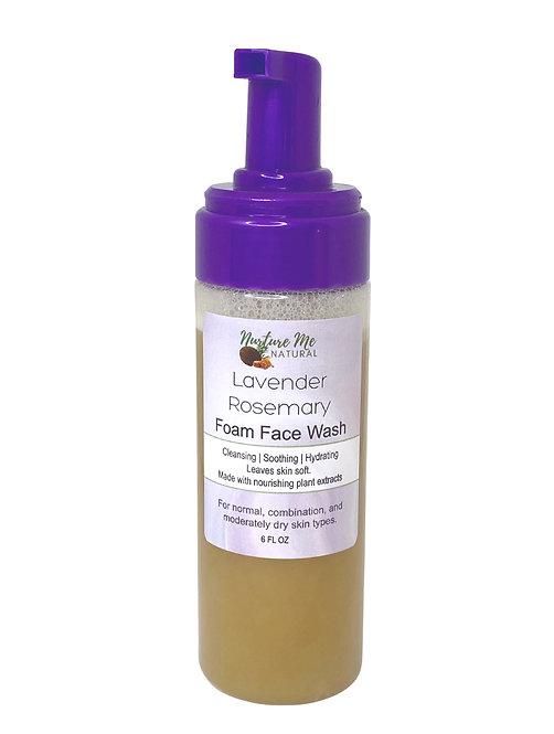 Lavender Rosemary Foam Face Wash