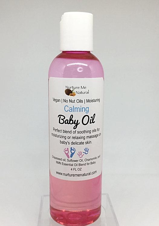 Vegan baby oil, natural baby oil, organic baby moisturizer