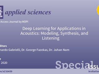 MDPI Special Issue on Deep Learning for Acoustics