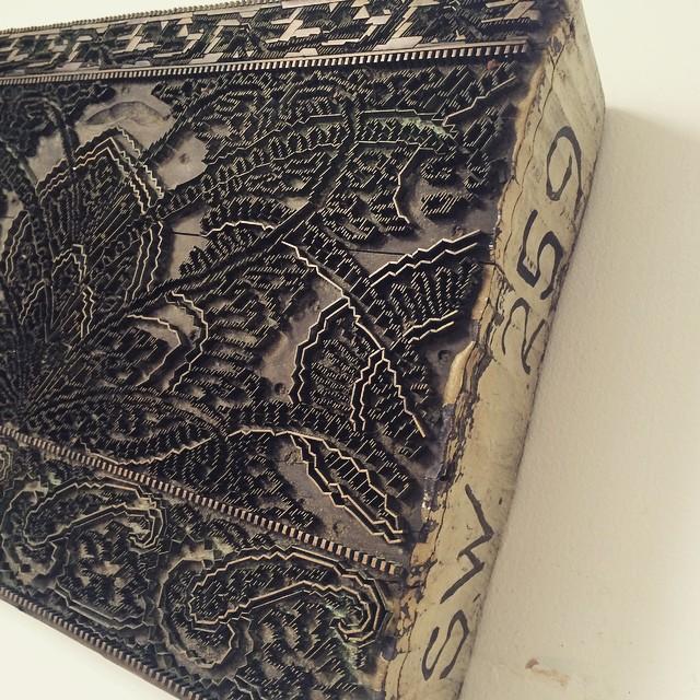 Old printing block inspiration.