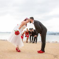 Photo groupe mariage humour Var - Toulon Fort Saint Louis