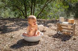 séance photo bain de lait champêtre anniversaire 1 an valphotovar photographe