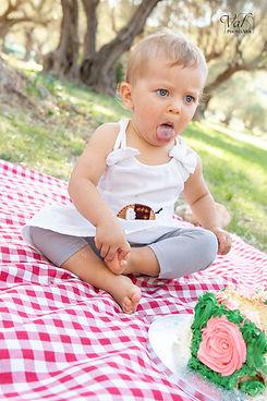 Smash the cake, photo anniversaire bébé