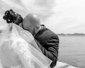 Valphotovar photographe mariage la Seyne sur Mer - rencontre des mariés - Fort brégaillon