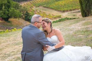 Valphotovar photographe mariage Signes - Photos de couple - Champ de vignes - Domaine de Cancerilles