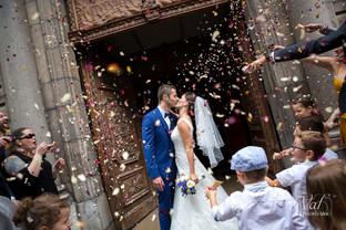 Valphotovar photographe mariage la Valette du Var - sortie d'église