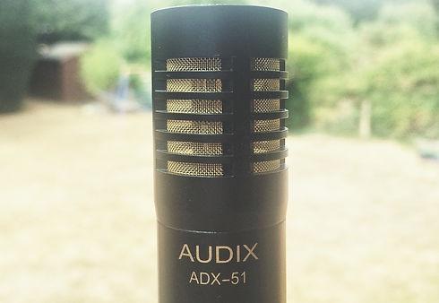 Recording drum microphone