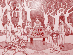 Poster for Fire in the Forest gig