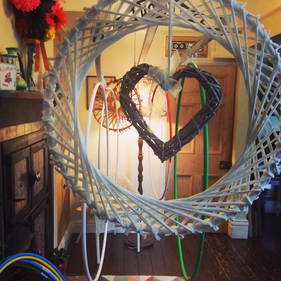Wedding hoop decorations