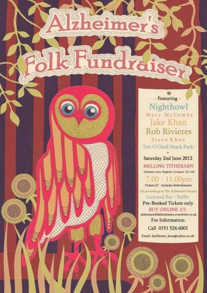 Alzheimer's Folk Fundraiser Poster
