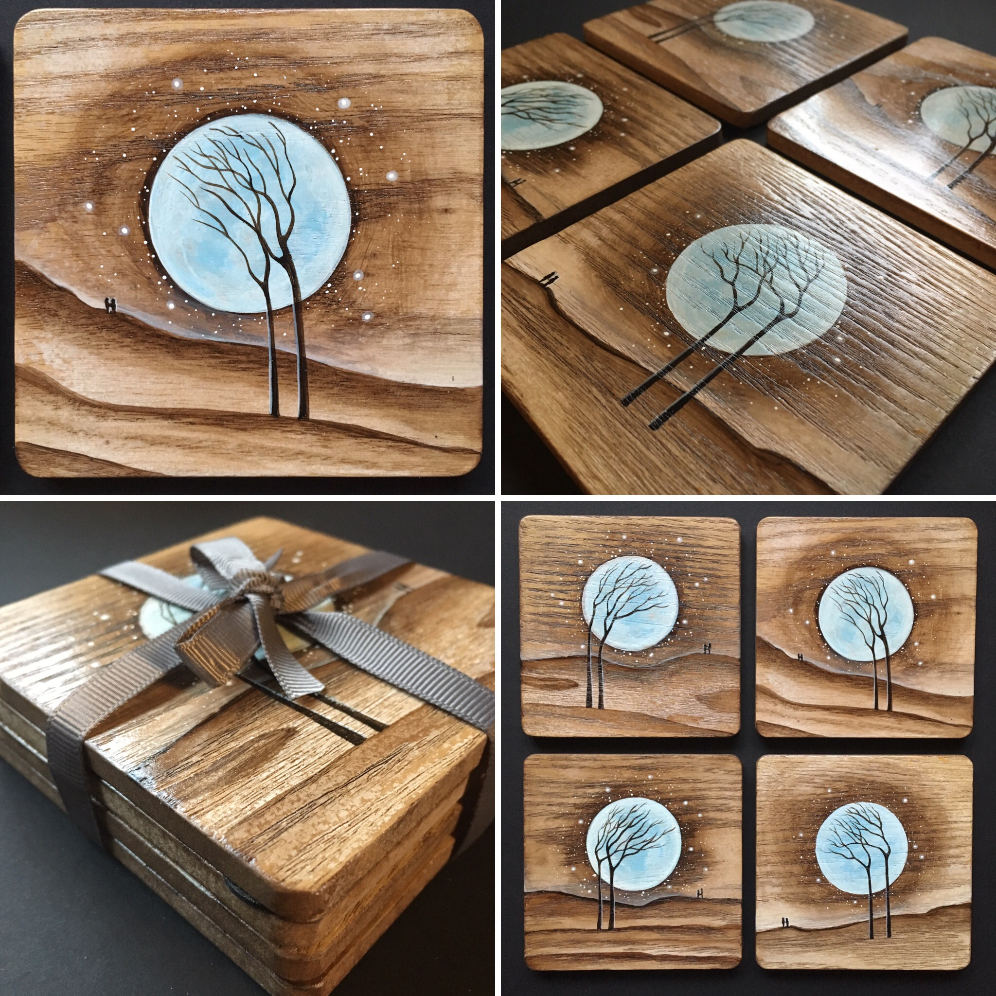 Blue Moon Coasters