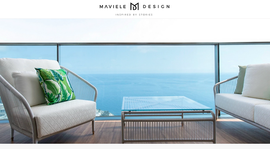 Wix website Maviele Design