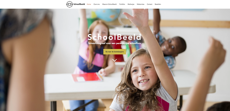 Wix website SchoolBeeld