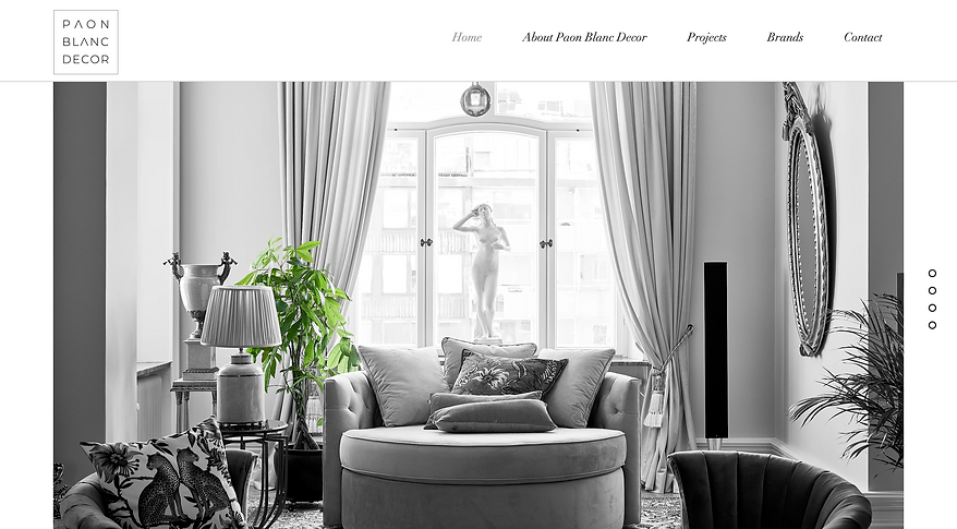 Wix website Paon Blanc Decor