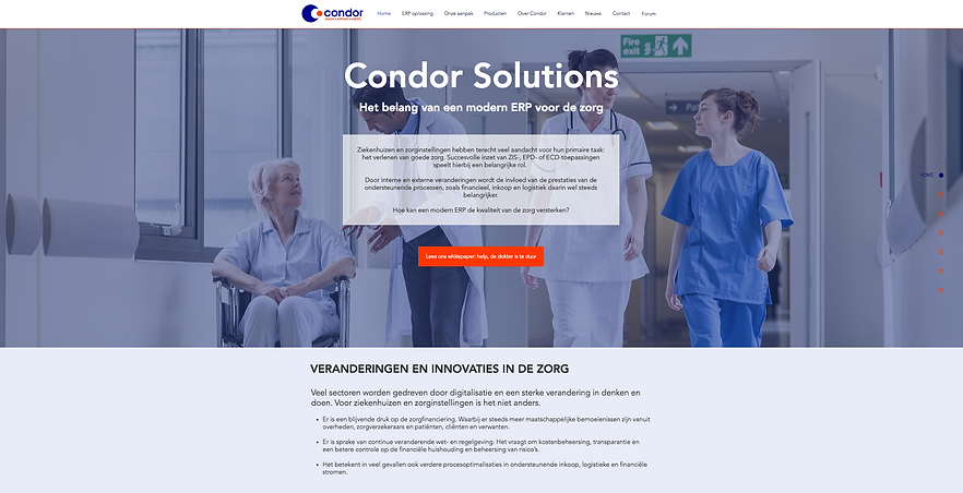 Wix website Condor Solutions