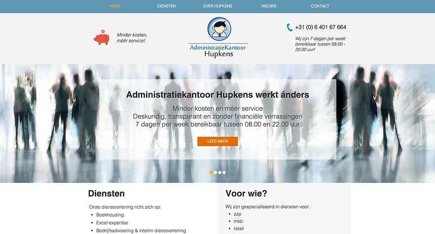 Wix website akhupkens