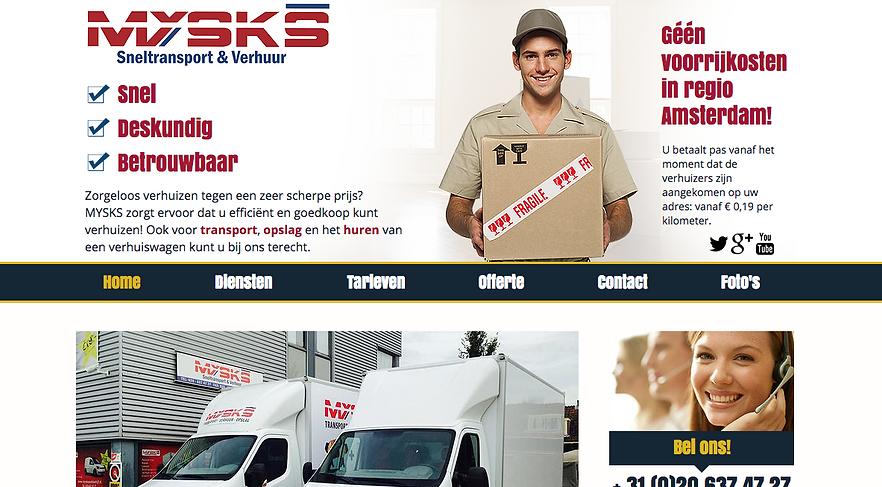 Wix website Mysks