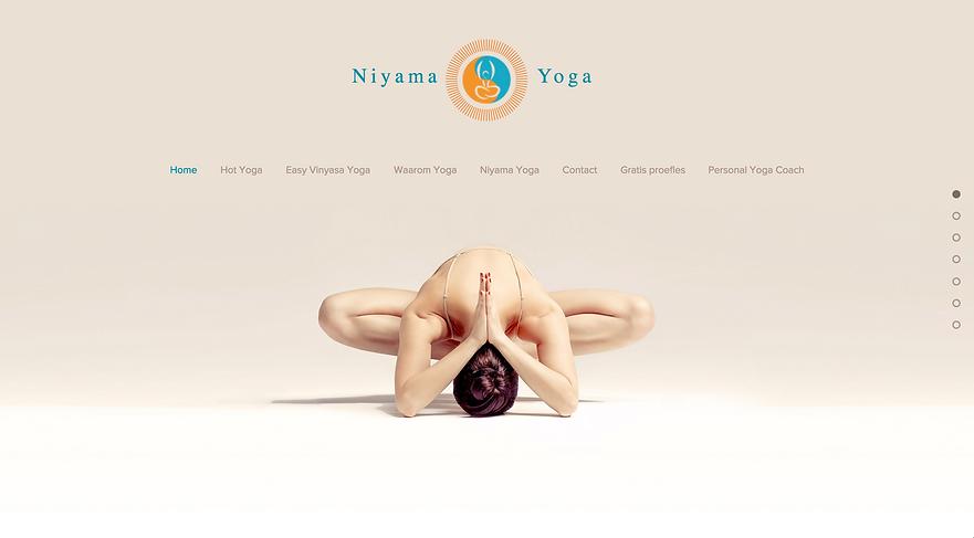 Wix website Niyama Yoga