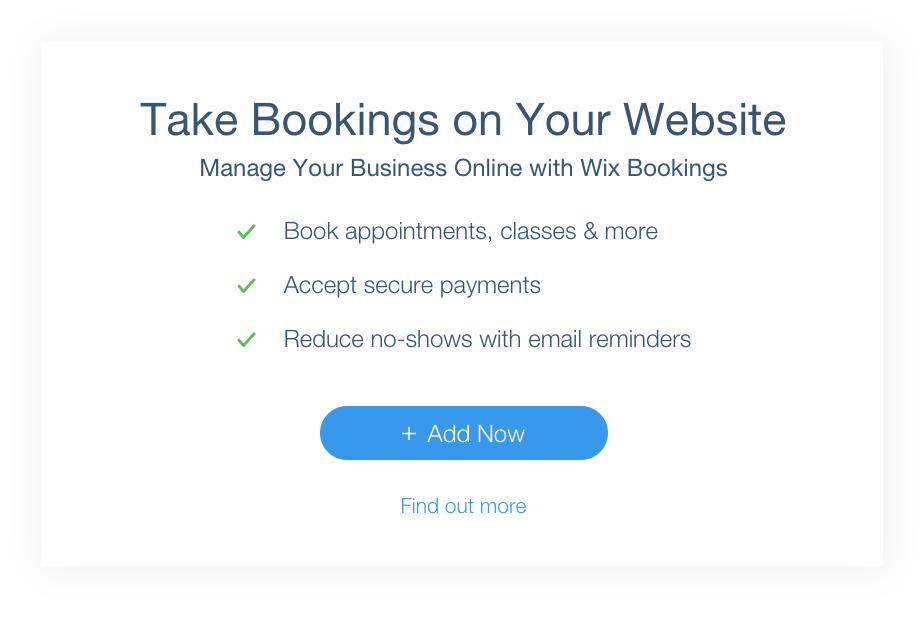 Wix website met call-to-actions