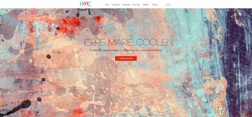 Wix website Pierre Marie Coolen