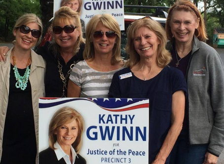 "Kathy Gwinn: ""Just a clerk"" becomes ""Justice of the Peace"""