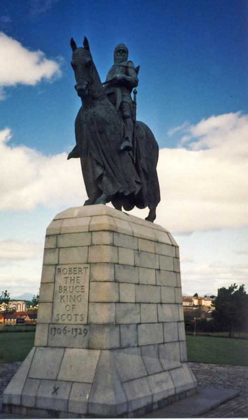 Statue Robert de Bruce at Bannockburn Battlefiled