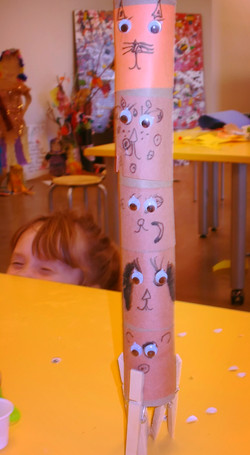 Recycled Materials Mini Totem Pole