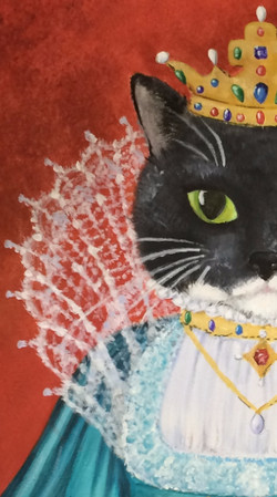 Her Meowjesty Queen Lucy (Detail)
