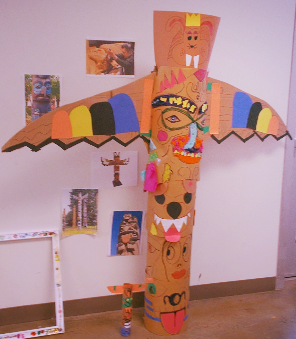 Recycled Materials Totem Pole