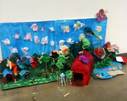 Recycled Farm Sculpture