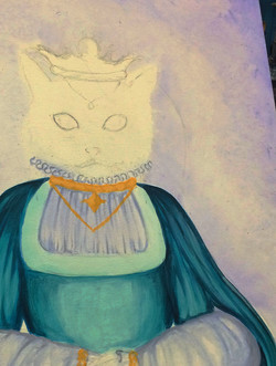 Her Meowjesty (Process Detail)