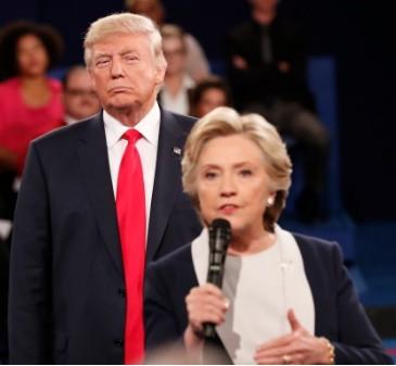 Belligerent Trump Breaks Clinton Advantage (Debate II) (#17)