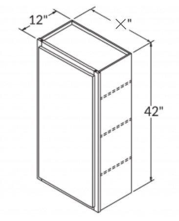 "42"" SINGLE DOOR WALL CABINET"