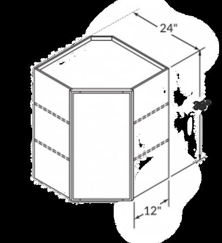 "36"" DIAGONAL CORNER WALL CABINET"