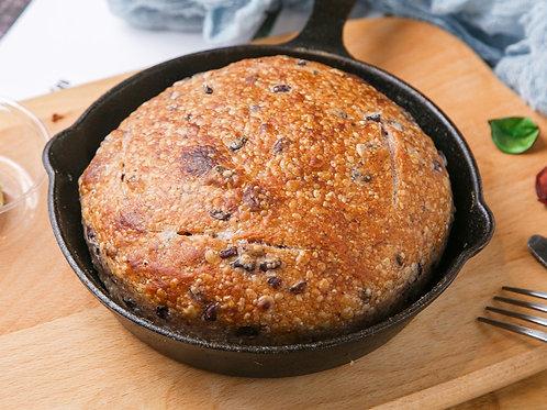 黑米老麵歐包