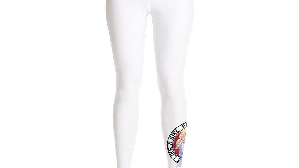 FLAG Spat-Leggings - White