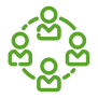 green people working together icon