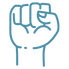 blue first raised in the air icon